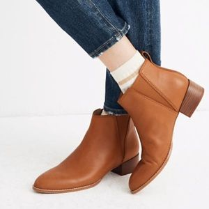 Madewell the carina ankle boot English saddle 7.5